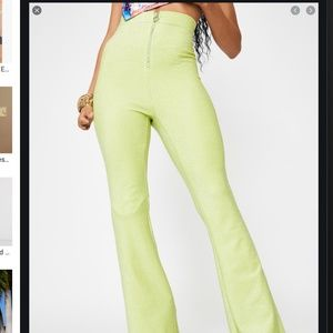 Elsie and Fred Lime Green Flares